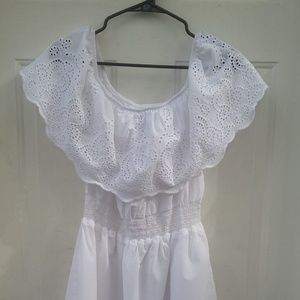 RUE21 white cotton dress